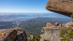 Hobart from kunanyi - [Explored!] (edgetas.com - tasview.com) Tags: hobartmtwellingtontasmaniaaustralia kunanyi boulders view pano flickr explore explored