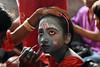 Eyeing for a makeover (Rajib Singha) Tags: travel street people girl portrait custom chadak festival ritual gajon rural makeup interestingness flickriver nikond7200 krishnadebpur kalna westbengal india