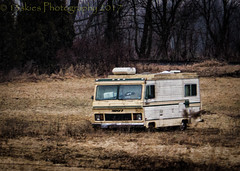This Will Do (HTT) (13skies) Tags: thursday hdrthursday happytruckthursday camping done seasonisover decay alone field truckthursday doors windows motorhome dead gone