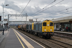 20107 & 20096 - 6E21 - Peterborough - 24.04.2017 (Tom Watson 70013) Tags: class20 20107 20096 br blue tankers 20314 20311 hnrc 6e21 peterborough chopper diesel train railway station