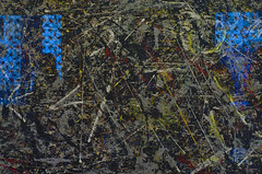 """""""Alchemy"""" by Jackson Pollock at the Peggy Guggenheim Collection (Twilight Tea) Tags: italy venice january 2017 alchemy pollock guggenheim"""