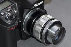 Nikkor-O 55mm F/1.2 mounted reverse (Arne Kuilman) Tags: nikkoro55mmf12 nikkoro55mmf12crt crt lens reversed br2 d7000 reverse macro fotografie rare special grandlegend ニコン