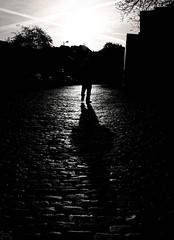 early morning (frax[be]) Tags: streetphotography street fuji 23mm x100t monochrome outdoor lightshadows highcontrast noiretblanc blackandwhite bnw bw blackwhitephotos dark