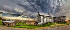 IMG_3307-11PtRzl1scTBbLGER (ultravivid imaging) Tags: ultravividimaging ultra vivid imaging ultravivid colorful canon canon5dmk2 clouds sunsetclouds stormclouds scenic rural rainyday pa pennsylvania panoramic road fields farm vista evening spring barn