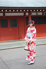 036A1039 (zet11) Tags: japan tokyo japanese younggirls couple folkcostumes kimono