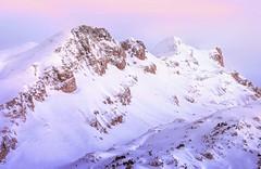 Budogia in Pink (arbioi) Tags: belagua canon linza eos40d euskalherria frio paisaje lescun montaña montañas navarra nafarroa naturaleza nieve pirineo pyrenees pirineos pyrenee pyrennee roca snow mesadelostresreyes budogia hiru erregeen mahaia