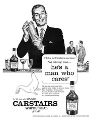 1957 Carstairs White Seal Blended Whiskey ad (Tom Simpson) Tags: 1957 carstairs whiteseal blended whiskey ad 1950s ads advertising advertisement vintage vintagead vintageads mixing drink alcohol spirits