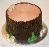 Tree Stump Birthday Cake