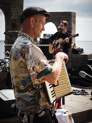 Barnz Munn (real ramona) Tags: flown minack poc circus cornwall accordion stage musician