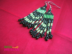 Green and Black Beaded Earrings (Miss  ) Tags: traditional earrings beaded