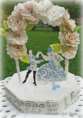 wedding centerpiece/cake topper (maminkagirl) Tags: wedding cake vintage paper favor topper