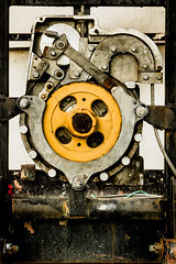 Machinery (ep_jhu) Tags: hinge industry wheel metal canon dc washington wire districtofcolumbia unitedstates machine rope dirty machinery 7d dcist rotating greasy