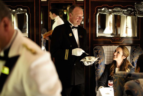 British Pullman - dining on a luxury train in the UK