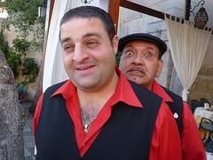 Taormina - Paolo il buono ed il diavolo tentatore (Luigi Strano) Tags: italy portraits europa europe sicily taormina ritratti sicilia messina sicile sizilien      barmocambo lucianoocchino paolobuemi