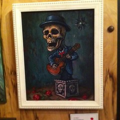 Red dotted Play of the Dead #soldart #skull #dayofthedead #guitar #music #art #artist #oilpainting #playmusic #paintedmusic #sold #thehivegallery #hivegallery #teod #teodtomlinson (Teod Tomlinson) Tags: art birds painting toys gallery surreal pop oil expressionist raven hive tool impressionist juxtapoz the
