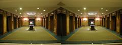 Toronto - Fairmont Royal York Elevator Bay 3D Stereogram (BoogaFrito) Tags: york toronto ontario canada clock hotel stereogram stereophotography crosseye cross elevator royal motel canadian lobby stereo royalyork elevators stereograph magiceye fairmont crossview