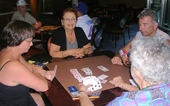 Equinox - Janet and Bridge Partners (roger4336) Tags: bridge cruise celebrity caribbean janet equinox cardroom 2013 contractbridge