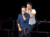 Nick Lachey & Drew Lachey (amyshaped) Tags: dallas drew 98 americanairlinescenter degrees lachey canonsx50 thepackagetour