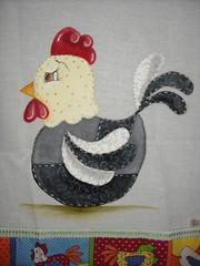 Galinha D'angola (Pintura em tecido. Panos de prato.) Tags: