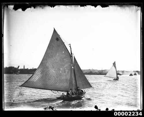 Yacht VIOLET under sail on Sydney Harbour