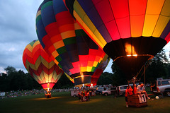 A Bit Before Night (ddcronkh) Tags: hot color night mi canon glow michigan air balloon jackson hotairballoon 5d mkii markii