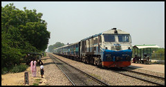 Rewari-Delhi Passenger (Ashwin WAP5) Tags: india station ir toaster diesel delhi railway passenger nr arrives tkd newdelhi indianrailways dwarka northernrailway hauled irfca 15507 sector8 wdp3a delhidivision rewaridelhi shahabadmohammdpur