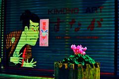 Kimono Flower (OzGFK) Tags: street flower art japan graffiti tokyo nikon asia kimono nikkor d90