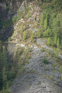 The badly degraded upper incline of Hen Gloddfa