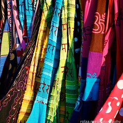 Colourful fabrics (rolaaa) Tags: vienna summer sun color colour sunshine photography austria colorful warm bright market patterns warmth efs1855mm sunny stall material bags colourful canonphotography viennaphotowalk canon550d