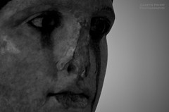 Tears (Gareth Priest) Tags: light portrait bw history face statue museum writing dark landscape greek eyes ancient nikon europe mood atmosphere athens greece shade mysterious historical tones d5100