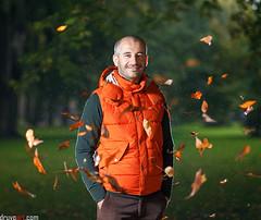 Autumn (druvoart) Tags: park autumn water rain speed canon flash latvia polarizer polarized riga cpl 85mnm 5dmkii