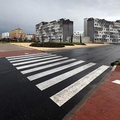 Crosswalk (Julio López Saguar) Tags: madrid street city españa architecture calle spain arquitectura ciudad sur crosswalk spaces dormitorio alcorcón espacios pasodecebra ensanche juliolópezsaguar