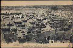 Cancale (Chris Protopapas) Tags: france sepia architecture vintage harbor brittany europe postcard bretagne oysters lowtide cancale