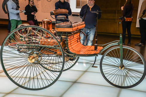 1886 Benz Patent-Motorwagen at Mercedes-Benz Museum Stuttgart Germany