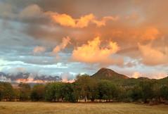 Sunset (VillaRhapsody) Tags: sunset summer orange mountain field clouds rural fire village kayakoy babadag challengeyouwinner