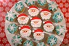 Merry Christmas 2013 (Little Cottage Cupcakes) Tags: santa christmas school party snowflakes cupcakes mini santaclaus littlecottagecupcakes