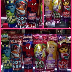 KIDS BODY WASH USA สำหรับเด็ก ขนาด 8 oz 236 ml ลายการ์ตูน ยอดนิยม น่ารักน่าใช้  - MONSTER UNIVERSITY/Torsted Scented  - CARS/Sugar Cookie Scented - SPIDERMAN/CAndy Cane Scented - Disney Princess/Spice Apple Scented - Barbie/Sugar Plum Scented - Dora Explo