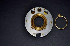 One wheel (Mxziton) Tags: broken metal nikon lock cracker safe brass cracked combination tumbler d3100
