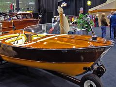 Yellow Jacket Boat Co. • Denison, Texas • Capri model (SteveMather) Tags: show ohio capri boat antique cleveland engine restored oh outboard mahogany 4s iphone 2014 molded veneers 19491959 yellowjacketboatco stephenrmather