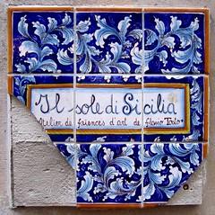 Il sole di Sicilia (Kay Harpa) Tags: paris france art ceramic flickr poetry paintings parisprom photokay artinthestreetsofparis artdanslesruesdeparis