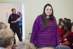 20140202__MG_4838_Yarn_To_Garment (Pat Kilkenny) Tags: ohio color wool fashion yarn fabric weaving weave oberlin garment 2014 oberlincollege 13thannual betsybruce yarntogarment