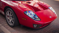 Stripeless Ford GT (DryHeatPanzer) Tags: red classic cars ford coffee exotic scottsdale gt rare stripeless nostripe