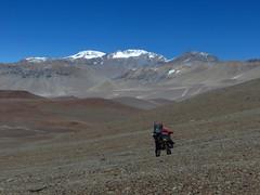 Heading to Bonete (6770m)