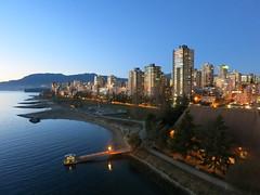 02-28-14 Vancouver Twilight 05 (derek.kolb) Tags: street light sunset mountain canada building skyline night vancouver coast pier twilight bc britishcolumbia favorites sunsetbeach englishbay westend