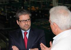 Marco António Costa em visita à Frusoal