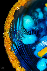 Blue Curaçao Cocktail (Natalia Morón) Tags: bluecuraçao blueorange orangeliquor curaçao blue macromondays