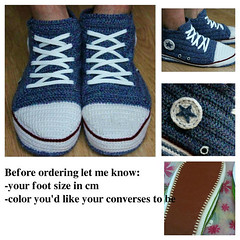 crochet_blue_converse_slippers_by_eastfolk (eastfolk) Tags: blue crochet converse slippers sneakers men house shoes chucks custom personalised leather sole