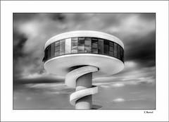 The Torch (tmuriel67) Tags: architecture arquitectura niemeyer clouds asturias aviles monochrome blackwhite blancoynegro