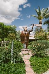 scottsdale, az (jayelyse) Tags: travel scottsdale arizona statue iron green blue