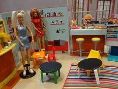 Spice Girls Cafe Bar (mydollfamily) Tags: barbie spicegirls mattel rement diorama